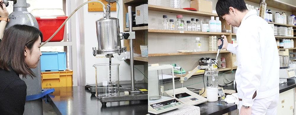 三省製薬研究室の業務風景