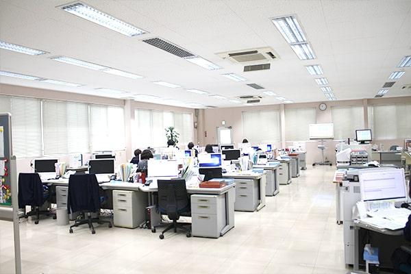 三省製薬本社内のコールセンター